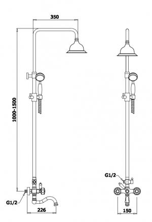Душевая система GANZER GZ09062 CHROME