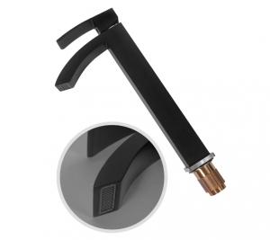 Cмеситель для раковины Hansberge CUBITO H2077BC Черный с хромом