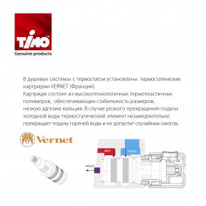 Душевая система TIMO с термостатом Petruma SX-5059/03SM Черный