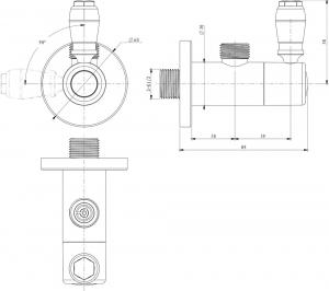 Подключение для шланга Elghansa Unit VK-0126 Chrome