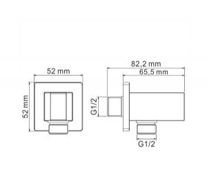 Подключение для шланга GANZER GZ013 CHROME