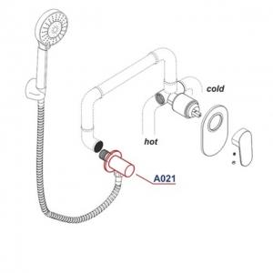 Подключение для шланга WasserKRAFT A021 CR