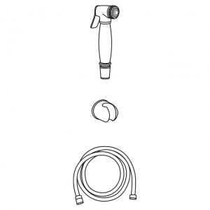 Гигиеническая лейка в наборе Veragio KIT VR.KIT-2223.CR
