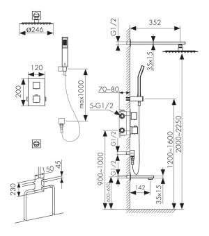 Душевая система скрытого монтажа Kaiser Sonat 34577 Chrome