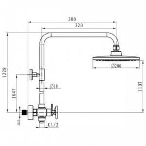Душевая система Elghansa NEW WAVE Sigma 3707595-2A Chrome