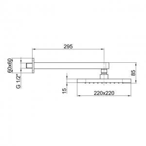 Тропический душ Webert Comfort AC0843015METAL Хром