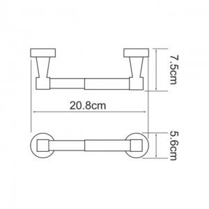 Бумагодержатель WasserKRAFT Isen K-4022 CR