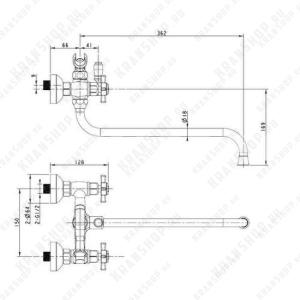 Двухрычажный смеситель универсальный Bennberg 591222 (хром)
