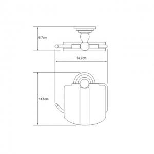 Бумагодержатель WasserKRAFT Ammer K-7025 CR