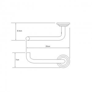 Бумагодержатель WasserKRAFT Ammer K-7096 CR
