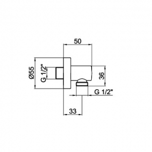Подключение для шланга Webert Comfort AC0344560 Черный матовый