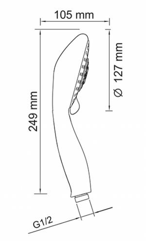 Душевая лейка WasserKRAFT A003 CR