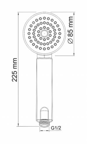 Душевая лейка WasserKRAFT A034 CR
