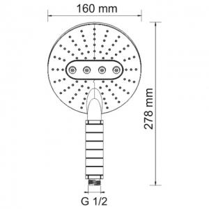 Душевая лейка WasserKRAFT A059 CR