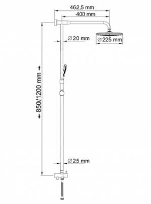 Душевая система WasserKRAFT A066 CR