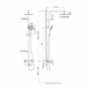 Душевая система D&K Berlin Humboldt DA1433712A02