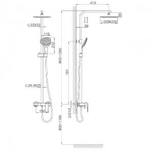 Душевая система D&K Berlin Technische DA1433715A02