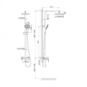 Душевая система D&K Berlin Steinbeis DA1433716A02