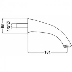 Излив настенный Migliore Ricambi ML.RIC-19313 CR