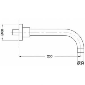 Излив настенный Migliore Ricambi ML.RIC-19320 CR