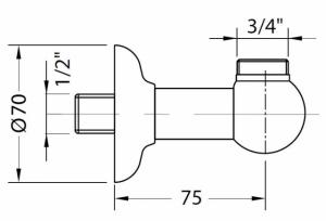 Подключение для шланга Migliore Ricambi ML.RIC-30.300.CR