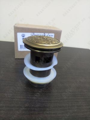 Донный клапан для раковины с переливом Bronze de Luxe 21984