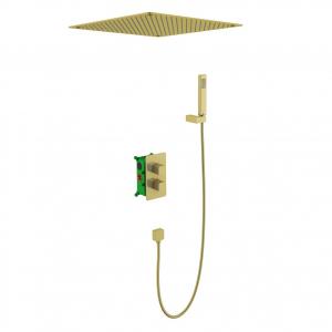Душевая система TIMO с термостатом Petruma SX-5029/17SM Золото матовое
