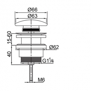 Донный клапан для раковины Veragio SBORTIS VR.SBR-8002.BR