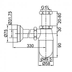 Сифон для раковины Veragio SBORTIS VR.SBR-8112.BR