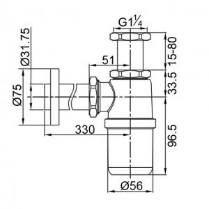 Сифон для раковины Veragio SBORTIS VR.SBR-8113.CR