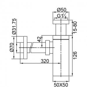 Сифон для раковины Veragio SBORTIS VR.SBR-8116.CR