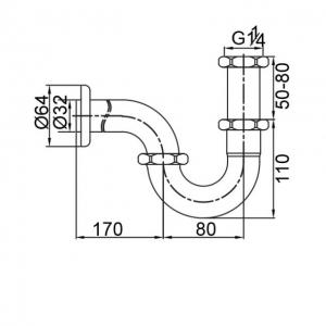 Сифон для раковины Veragio SBORTIS VR.SBR-8117.CR