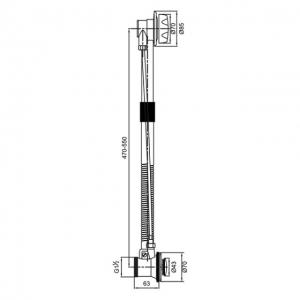 Обвязка для ванны Veragio SBORTIS VR.SBR-8333.CR
