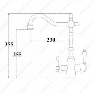 Смеситель для кухни под фильтр Zorg Sanitary ZR 312 YF-50-Bronze