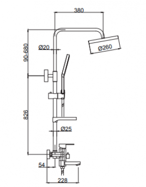 Душевая система TIMO Beverly SX-1060 Antique