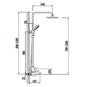 Душевая система TIMO Helmi SX-1070/00-16 (1060) Хром-Белый
