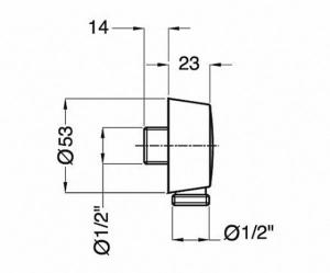 Подключение для шланга Migliore Ricambi ML.RIC-30.254.BR