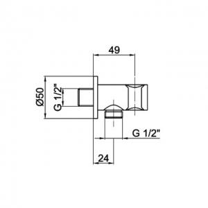 Подключение для шланга Webert Comfort AC0478015 Хром