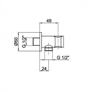 Подключение для шланга Webert Comfort AC0354015 Хром