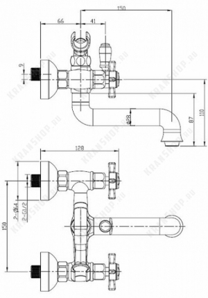Cмеситель для ванны Bennberg 521222 (хром)