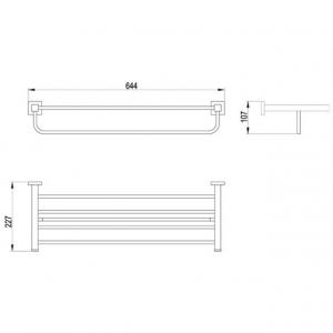 Полка с держателем для полотенца TIMO Selene 10058/00 Chrome