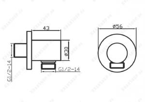 Подключение для шланга GANZER GZ012 CHROME