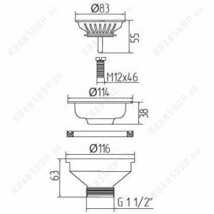 Слив для кухонной мойки Migliore ML.RIC-10.107.BR