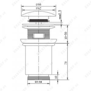Донный клапан для раковины Kaiser 8011An Bronze