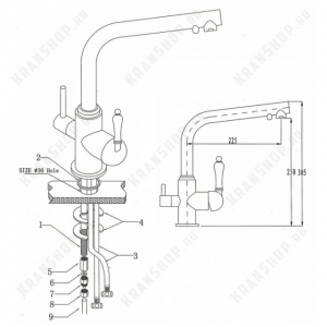 Смеситель для кухни под фильтр Bennberg 20F5051 Песочный