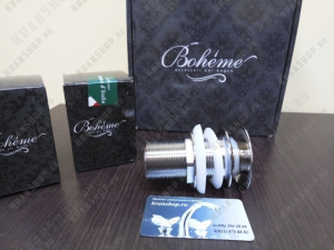 Донный клапан для раковины Boheme Briliante 612-02 с переливом