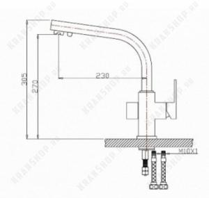 Смеситель для кухни под фильтр Bennberg 20F0111 Бронза
