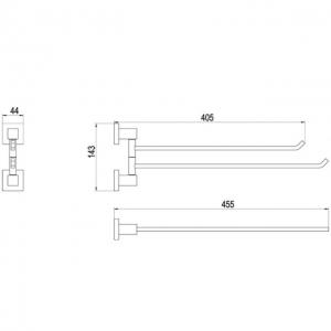 Полотенцедержатель TIMO Selene 10059/00 Chrome