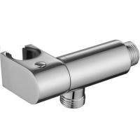 Настенный кронштейн для соединения душевого шланга круглый с держателем и клапаном Kaiser 0050 Chrome