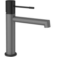 Cмеситель для раковины AltroBagno Intento 0127 GrNe Серый/Черный